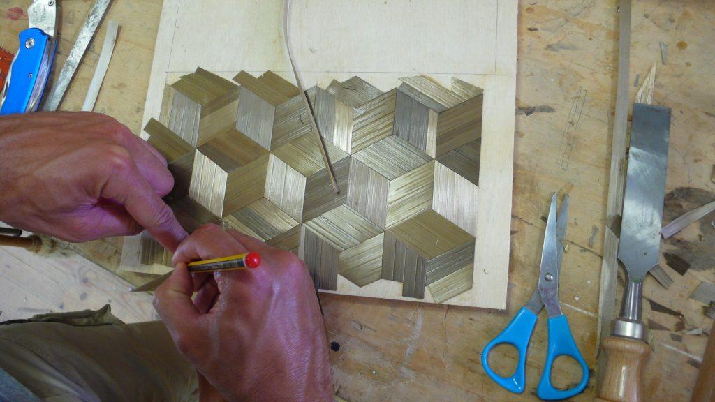 Curso de Marquetería Art Decó con paja de Centeno